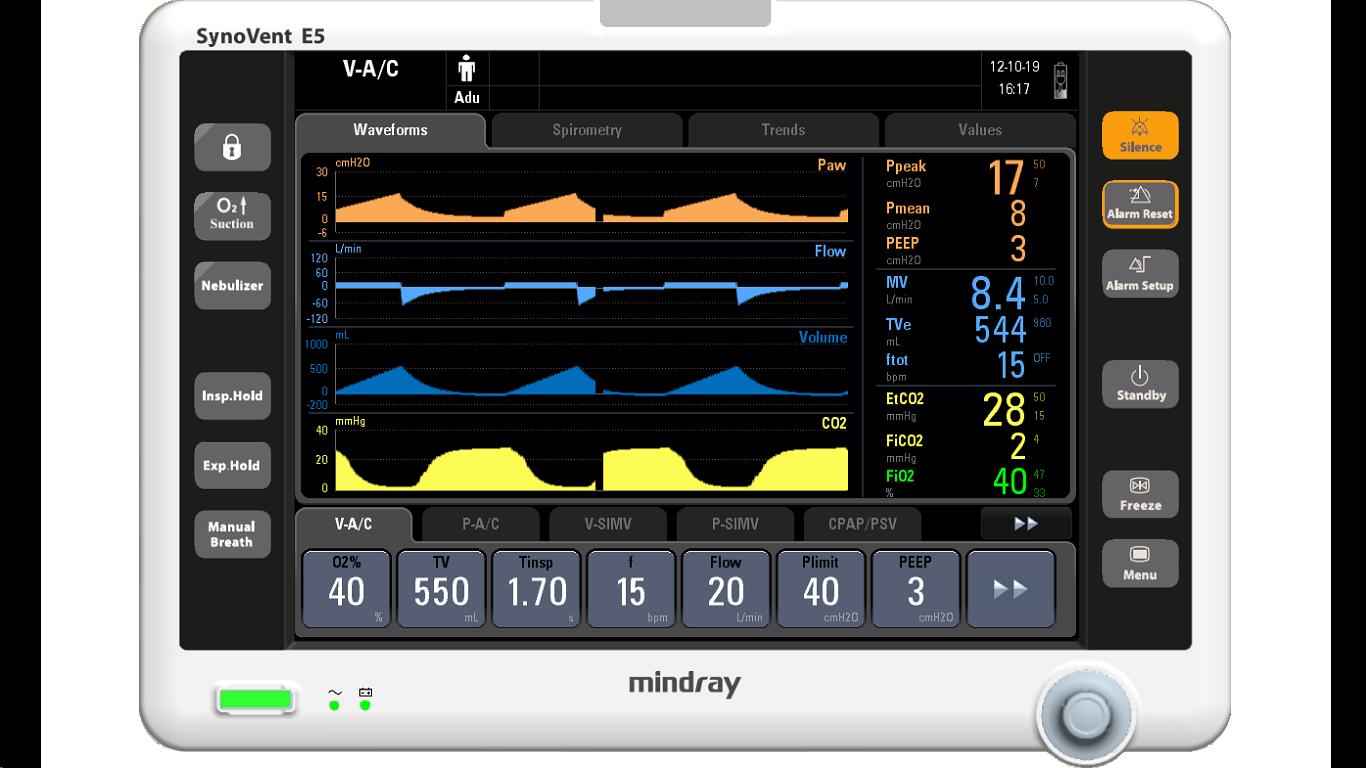 Mindray Ventilator SynoVent E5